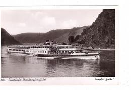 "BINNENSCHIFFE - RHEIN, Köln-Düsseldorfer ""GOETHE"" - Dampfer"