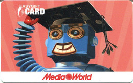 Gift Card Italy Media World - 009e - Robot Student  (M04) - Gift Cards