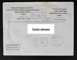 Egypte Lettre Du Caire En Franchise Recommandée Pour La France - 2004 - Briefe U. Dokumente