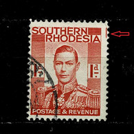 11008- Southern Rhodesia, British Colonies, Error, Variety, Typo Marker On The Right Scott 43 - Southern Rhodesia (...-1964)
