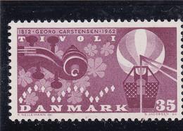 Denmark 1962 MNH 150 Year Anniversary For The Founder Of The Copenhagen Tivoli Amusement Park - Unused Stamps