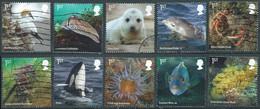 GROSSBRITANNIEN GRANDE BRETAGNE GB 2021 WILD COASTS STAMP SET 10V USED SG 4506-15 MI 4755-64 YT 5275-84 - Used Stamps
