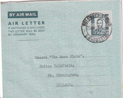 RHODESIE DU SUD 1944   ENTIER POSTAL/GANZSACHE/POSTAL  PLI AERIEN DE BULAWAYO - Southern Rhodesia (...-1964)