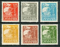 DENEMARKEN 1927-40 Schip Serie PF-MNH-NEUF - Unused Stamps