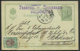 BULGARIE - ENTIER POSTAL - CP 5s. VERT + N° 53 , DE PHILIPPOPLE LE 8/8/1903 POUR L'AUTRICHE - TB - Postcards