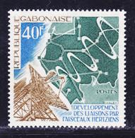 GABON N°  343 ** MNH Neuf Sans Charnière, TB (D9673) Faisceaux Hertziens - 1975 - Gabon (1960-...)