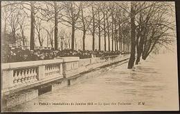 Ak Frankreich - Paris - Hochwasser 1910 - Le Quai Des Tuileries - Überschwemmung 1910