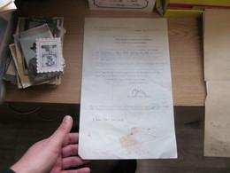 Belgrad 1942 WW2 Okupation Kgl Ungarische Konsularvertreitung Signatures Gneralkonsul - Historical Documents