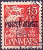 DENEMARKEN 1922-53 Opdruk Postfaerge Op 15öre Schip Type A GB-USED - Used Stamps