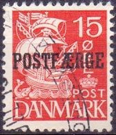 DENEMARKEN 1922 -53 15öre Postfaerge Schip X GB-USED - Used Stamps