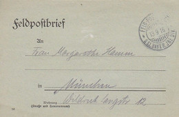 Feldpostbrief - III. Batl. 3. Inf. Rgt. II Bay. Inf. Div . - Nach München - 1916 (58109) - Covers & Documents