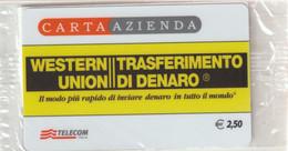 59-Carta Azienda-Western Union-Nuova In Confezione Originale - Unclassified
