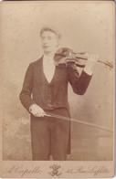 Violoniste - Violon - Archer - Musicien - Musique - Photographie D'Art Ancienne De A. Capelle 45, Rue Laffitte Paris - War, Military
