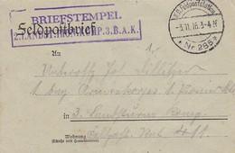 Feldpostbrief - 2. Landst. Pionier Komp. 3. B.A.K. - Nach Feldpost 411 - 1916 (58112) - Covers & Documents
