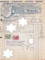 "IMPRIMERIE - LITHOGRAPHIE - *  ISEGHEM - IZEGEM "" CLOVIS NONKEL "" * 1933 - DRUKKERIJ - LITHO - 1900 – 1949"