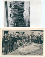 Photo Originale Lot De 2 Photos Camp Prisonniers Lazaret - War, Military