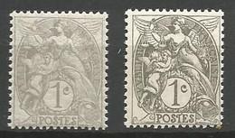 BLANC N° 107 LA Gris Et Gris Foncé NEUF** LUXE  SANS CHARNIERE / MNH - 1900-29 Blanc