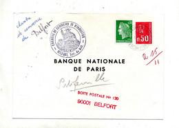 Lettre Cachet Charleville Sur Cheffer Bequet + Chambre De Commerce Belfort - Manual Postmarks