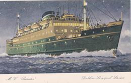 M.V. LEINSTER. DUBLIN-LIVERPOOL SERVICE - Dampfer