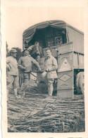 Photo Originale Miitaires CAMION Rations Carte-photo - War, Military