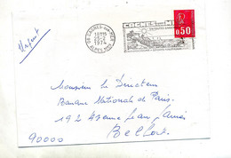 Lettre  Flamme Cagnes Chateau Musee Hippodrome - Mechanical Postmarks (Advertisement)