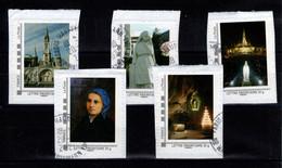 Montimbreamoi - Lourdes - Les 5 Timbres Tarif Prioritaire De La 2eme Série Collector Lourdes , Obliteres Sur Fragments - Personalized Stamps (MonTimbraMoi)