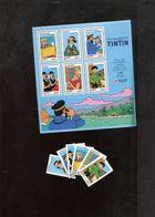 FRANCE 4051 / 4056 + BLOC ** Neuf Sans Charnières Les Voyages De Tintin BD Comics Strips Kuifje - Unused Stamps
