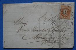 AE 2 FRANCE BELLE LETTRE 1872 ROUEN  POUR BOULOGNE + AFFRANCHIS. INTERESSANT - 1863-1870 Napoleon III With Laurels