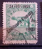 ITALIA FIUME 1921 COSTITUENTE FIUMANA C 5 USATO - Fiume