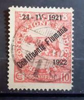 ITALIA FIUME 1922 COSTITUENTE FIUMANA C 10 USATO - Fiume
