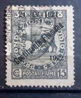ITALIA FIUME 1922 COSTITUENTE FIUMANA C 15 USATO - Fiume