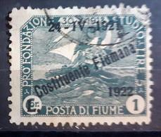 ITALIA FIUME 1922 COSTITUENTE FIUMANA LIRE 1 USATO - Fiume