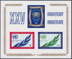 NATIONS-UNIES, 1970, Feuillet 25 ème Anniversaire De L'O.N.U. (Yvert 5 ) - Ungebraucht