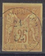 #172# COLONIES GENERALES N° 44 Oblitéré Capesterre G. P. (Guadeloupe) - Sage