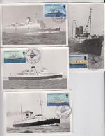 Guernsey -  1973 Mailboats Set 4 Maxicard - Guernsey