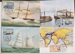 Guernsey -  1983 Shipping Set 5 Colour Maxicard - Guernsey