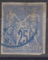 #172# COLONIES GENERALES N° 36 Oblitéré En Bleu Ligne S. V. (Réunion) - Sage