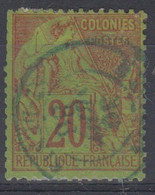 #172# COLONIES GENERALES N° 52 Oblitéré En Bleu St-Denis. (Réunion) - Alphee Dubois