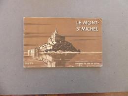 Carnet De 32 Pages Vues, Notice, Dessin Le Mont St Saint Michel Chemin De Fer De L'Etat 1936 - Tourism Brochures