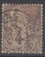 #172# COLONIES GENERALES N° 48 Oblitéré Gocong (Cochinchine) - Alphee Dubois