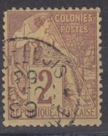 #172# COLONIES GENERALES N° 47 Oblitéré Port-Louis (Guadeloupe) - Alphee Dubois