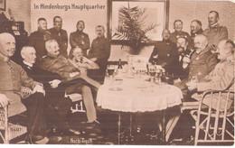 Hauptquartier Generalfeldmarschall Hindenburg Im Hauptquartier Stab World War I 1914.18 Schloß Pless ? Schlesien TOP-Erh - Personen