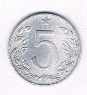 5 HALLER  1953   TSJECHOSLOWAKIJE /8159/ - Czechoslovakia