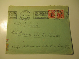 1925 ESTONIA TARTU TO RAKVERE Postal Addresses ADVERTISEMENT CANCEL , ,  OLD COVER , 0 - Estland