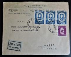 1482 BULGARIA BULGARIE БЪЛГАРИЯ 1943 AIR MAIL PAR AVION TO ALGER ARGELIA - Covers & Documents