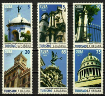 CUBA 2011 ARCHITECTURE Buildings TOURISM - Fine Set MNH - Unused Stamps