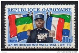 Gabon - 1962 - Yvert N° 164 ** - Capitaine Ntchorere Mort Pour La France - Gabon (1960-...)