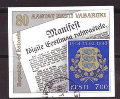 Estland / Estonia / Eesti Block 11 Used (1998) - Estland