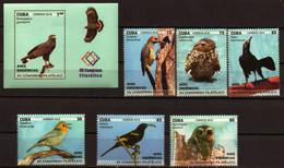 CUBA 2018 FAUNA Animals ENDEMIC BIRDS - Fine Set + S/S MNH - Unused Stamps