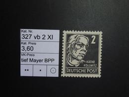 DDR ** 327 Vb 2 XI Tief  Mayer BPP - Ungebraucht
